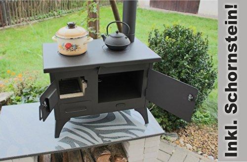 Outdoor Küchenofen : Outdoor küchenofen garten herd gartenküche mit schornstein: amazon