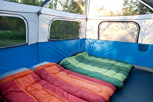 Beau Amazon.com: Coleman Hampton Family Cabin 2 Room Tent (9 Person): Sports U0026  Outdoors
