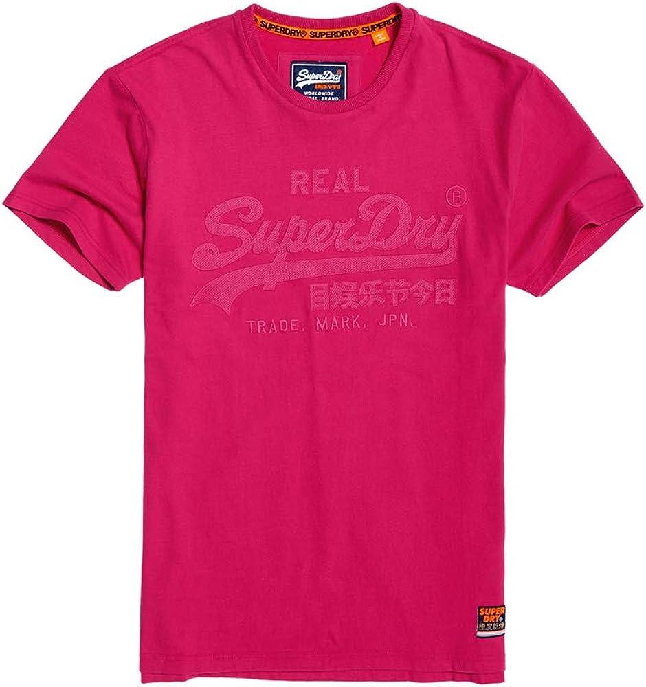 Superdry Camiseta Vintage Logo Fucsia Hombre: Amazon.es: Ropa y accesorios