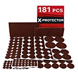 Furniture Pads for Wood Floors X-PROTECTOR Premium ULTRA LARGE Pack Felt Furniture Pads 181 piece! Felt Pads Furniture Feet ALL SIZES – Your Best Wood Floor Protectors. Protect Your Hardwood Flooring with 100% Satisfaction!