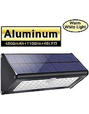 Licwshi 1100lm Solar Außenbeleuchtung 4500mAh Schwarz Aluminiumlegierung 120 ° Infrarot