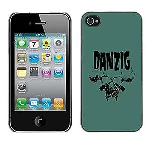 PC/Aluminum Funda Carcasa protectora para Apple Iphone 4 / 4S Danzig / JUSTGO PHONE PROTECTOR