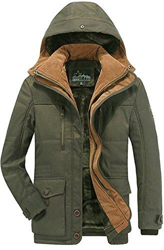 K3K Winter Men's Heated Warm Fleece Lined Coats Cotton Ho...