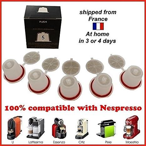5 cápsulas tipo Nespresso-Cafetera monodosis: Amazon.es: Hogar