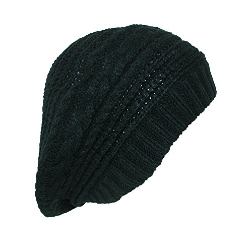 Scala Women's Slouchy Beret Hat, Black