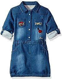 Little Girls' Roll Patch Sleeve Dress