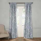 Cheap HPD HALF PRICE DRAPES BOCH-KC16072-96 Blackout Curtain, Tea Time China Blue, 50 x 96