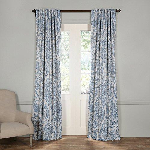 HPD Half Price Drapes BOCH-KC16072-96 Blackout Curtain, Tea Time China Blue, 50 x 96