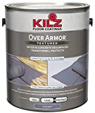 painting concrete floors KILZ Over Armor Textured Wood/Concrete Coating, 1 gallon, Slate Gray