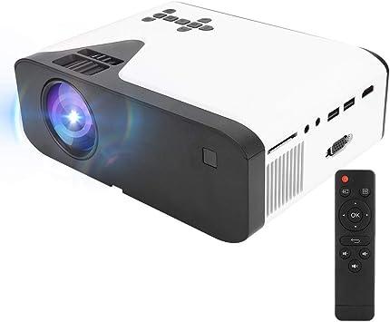 Opinión sobre Proyector LED HD, Proyector de Cine en casa Multimedia Integrado con Control Remoto, Pantalla Antipolvo para(European regulations)