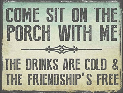Come Sit on the Porch Metal Sign is one of our small patio decor ideas