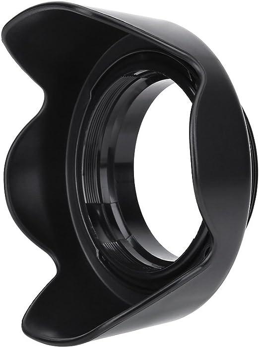 Serounder ES-62II Camera DSLR Lens Hood with Lenses Cap for Canon 50mm f//1.8 II for Nikon 50mm 1.4D Lens for Nikon 50mm 1.8D Lens