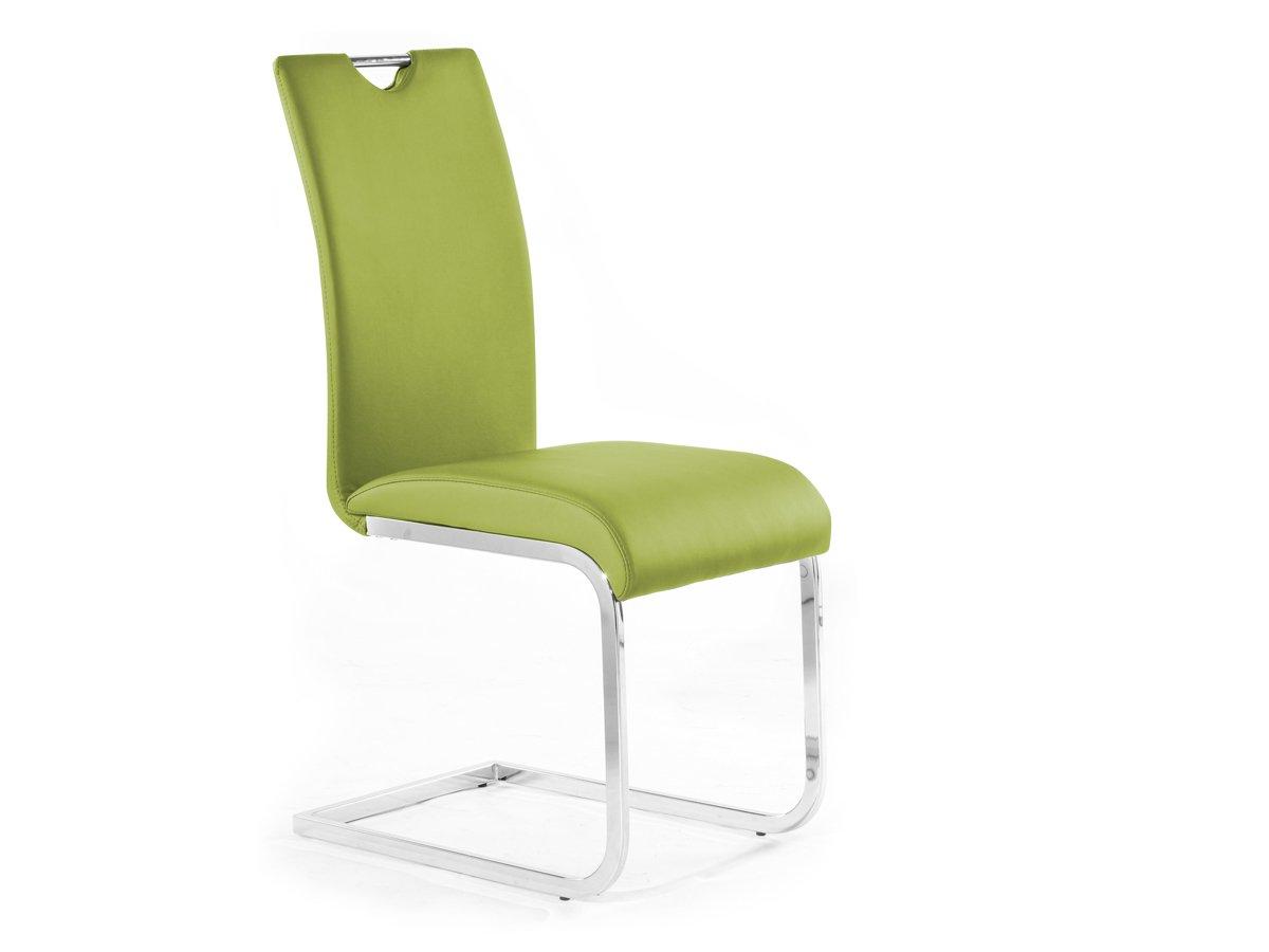 EDDI Freischwinger Esszimmerstuhl Schwingstuhl Stuhl grün, grün