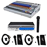 Peavey XR1220 20-Ch. Powered Console Mixer 2x600 Watt XR1220P + (3) Microphones