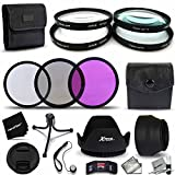 77mm FILTER ACCESSORIES KIT with 77mm Close-up MACRO Filters + 77mm 3 Piece Filter KIt + Accessory Kit + 77mm Close-up Macro filters 1+ 2+ 4+ 10+ + Wallet Case Holder + 77mm 3 Piece Filter Set (Containing UV Filter, CPL Filter & FL-D Filter) + 77mm Tulip shaped Hard Lens Hood + 77mm Soft Rubber Lens Hood + 77mm Lens Cap + Lens Cap Holder + Flexible Mini Table Tripod + Memory Case Holder + Fine Screen Protectors + Deluxe Cleaning Kit + Ultra Fine HeroFiber Cleaning Cloth