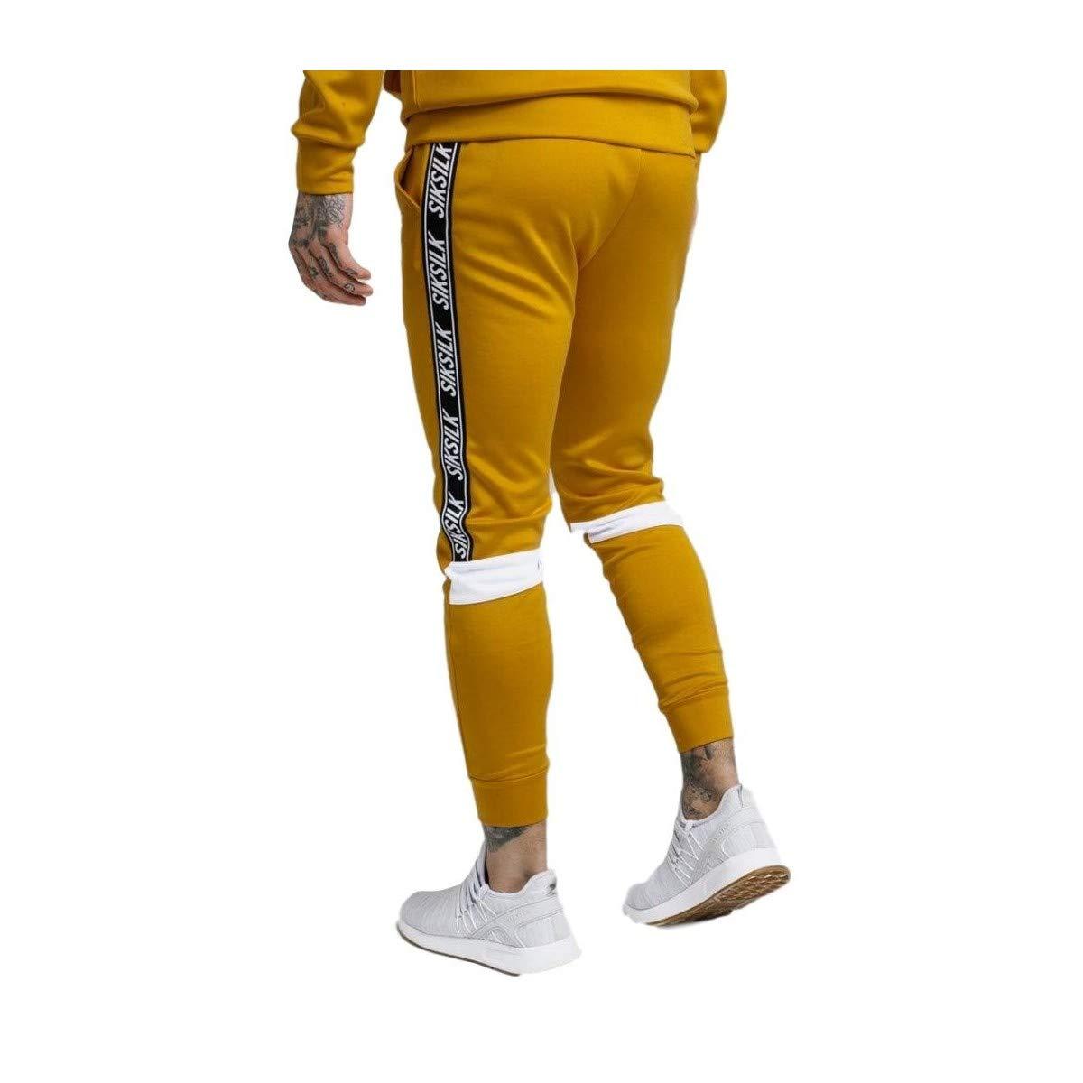 Sik Silk Pantalones poliéster recortados color Mostaza: Amazon.es ...