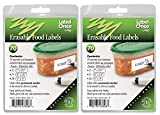 Jokari 70 Count Label Once Erasable Food Labels Refill Packs, Multicolor, 2-Pack