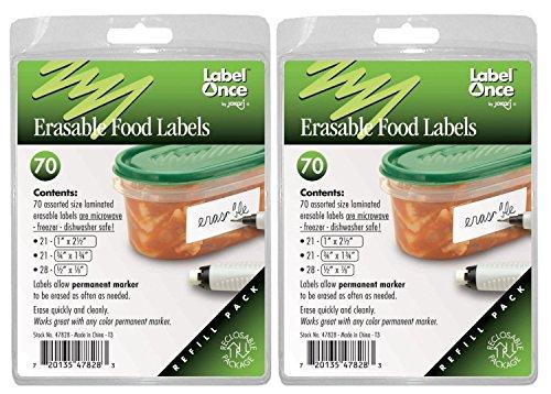Jokari 70 Count Label Once Erasable Food Labels - Jokari Erasable Food Labels