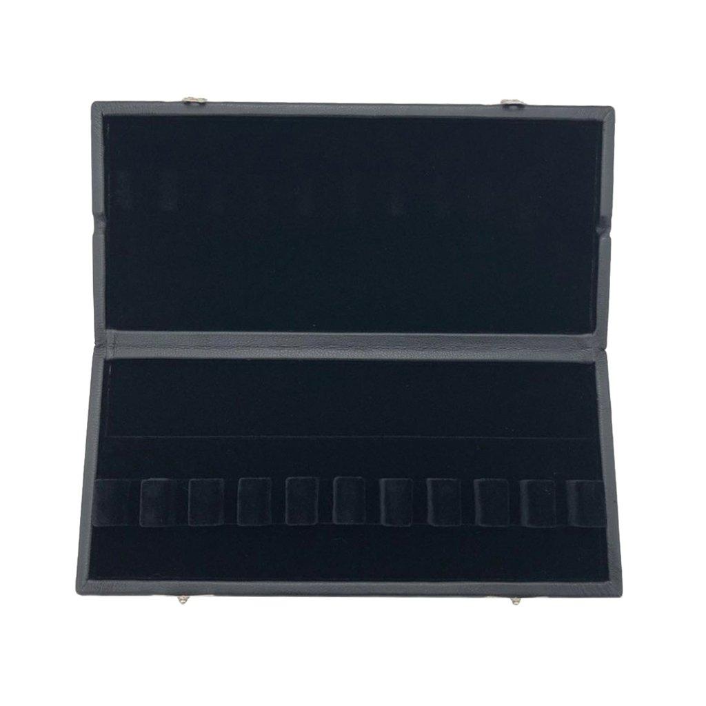 SM SunniMix Noir PU Cuir Hautbois Basson Basson Porte-conteneur pour 10 Anches