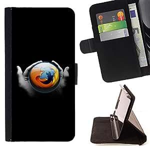- Fox Browser - - Prima caja de la PU billetera de cuero con ranuras para tarjetas, efectivo desmontable correa para l Funny HouseFOR Sony Xperia m55w Z3 Compact Mini