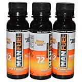 MANFUEL ALL NATURAL MALE ENHANCEMENT ENERGY LIBIDO STAMINA BOOSTER - MANGO PINEAPPLE FLAVOR - CAFFEINE FREE MALE ENHANCEMENT SHOOTER (3 PACK)