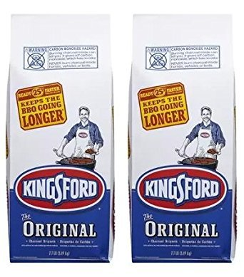 Kingsford Original Charcoal Briquets, Two 7.7 lb Bags