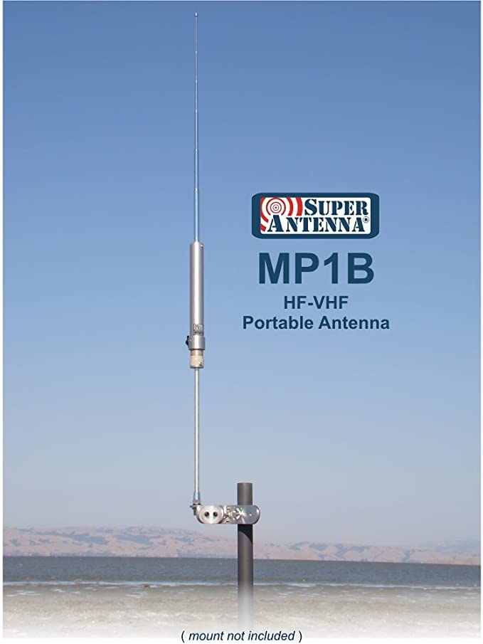 Super Antena mp1b todos banda de radio HF portátil MP1 Antena ...