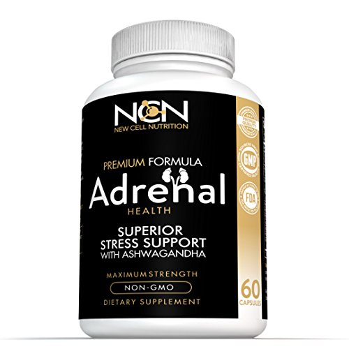 Ashwagandha With Holy Basil For Adrenal Health   Premium Herbal Blend To Support Optimal Energy And Health   Supports Fatigue Management  Cortisol Regulation   Stress Relief  100  Non Gmo   By New Cel