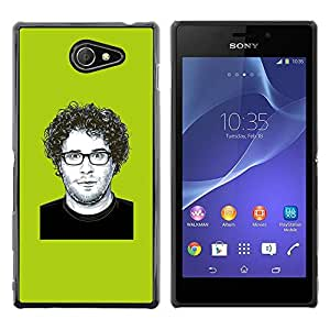 Slim Design Hard PC/Aluminum Shell Case Cover for Sony Xperia M2 Comedy Actor Hollywood Famous / JUSTGO PHONE PROTECTOR