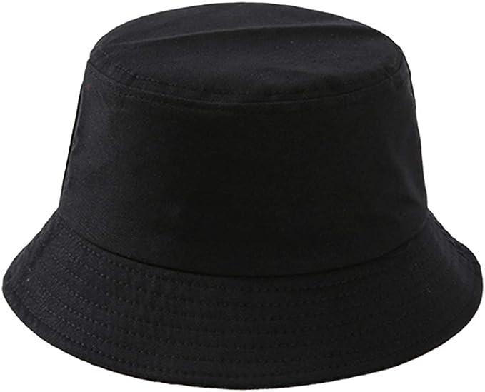 Baoblaze Chapéu De Balde De Algodão Unisex Chapéu De Sol De Cor Sólida Verão Anti UV Hip Hop Bucket Cap