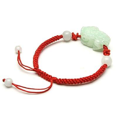 8a6b23116caf Pixiu Jade pulsera Pulseras hilo rojo joyas  Amazon.es  Joyería