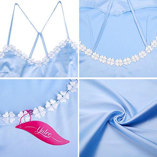 Indumenti Camosole notte Yulee della raso in Camicie Camisole Blue Donna da camicia da notte Uq05Rzq