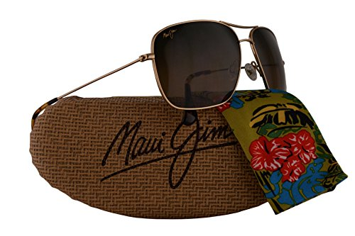 Maui Jim Cook Pines Sunglasses Gold w/Polarized Bronze Lens - Scratch Warranty Maui Jim