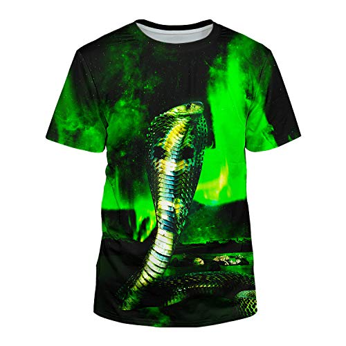Kayolece Unisex 3D Allover Printed Cool Animal Shirt Fahsion Casual Funny Graphic Tees XXL