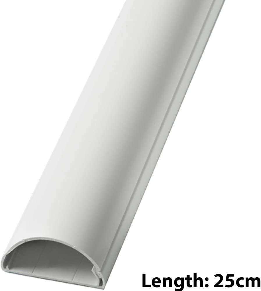 30mm x 15mm Smooth-Fit End Cap Cover White Adapter Loops Trunking Conduit Pipe//Tube TV