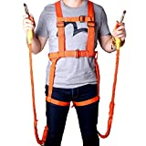 DUOSHIDA Full Body Safety Harness with 78.74'' Two Safety Rope and Carabiner Climbing Rappelling Equip