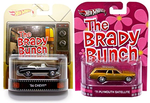 Brady Bunch 2 Car Set Fun Family Station Wagon - Hot Wheels Matchbox Chevy Convertible Retro Entertainment Plymouth
