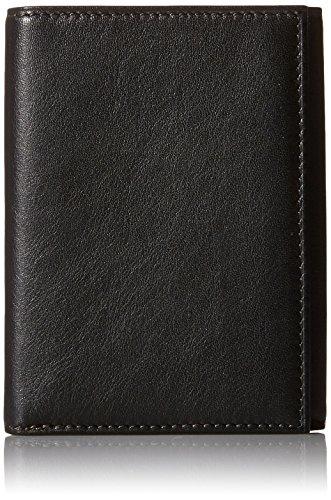 (Bosca Men's Nappa Vitello Collection - Trifold Wallet Black Leather Wallet)