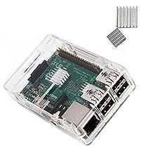 Vostrostone KuGi PC Protective Case with 3x Heatsinks for Raspberry Pi 3 Model B, Pi 2 Model B & Pi Model B+ (Clear)