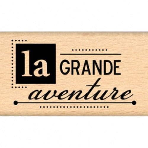 Florilèges fd109017 Stamp Scrapbook Design Great Adventure 4 x 7 x 2.5 cm, Beige