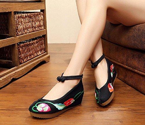 Lazutom - Sandalias de vestir para mujer negro