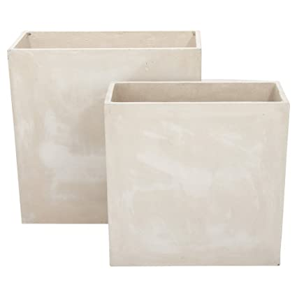 Unike Amazon.com : DecMode 24 and 28 in. Fiberclay Planters - Set of 2 VL-68