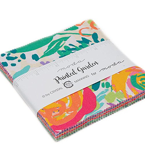 Painted Garden Charm Pack by Crystal Manning; 42-5 Precut Fabric Quilt Squares