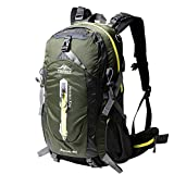 Topsky Outdoor Sports Waterproof Camping Hiking Internal Frame Backpack 40L 50L Unisex Lightweight Travel Daypacks with Rain Cover (ArmyⅡ, 40L) For Sale