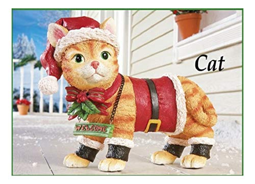 Motion Sensor Meowing Kitty Cat Welcome Christmas Yard Statue