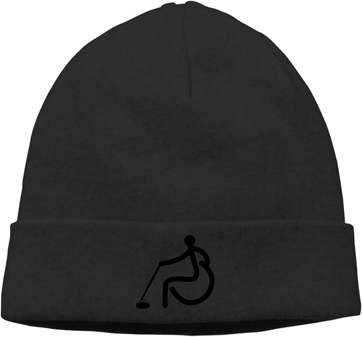 Nskngr Wheelchair Curling Cap Men Winter Summer Oversized Baggy Slouch Beanie Hats Winter Beanie