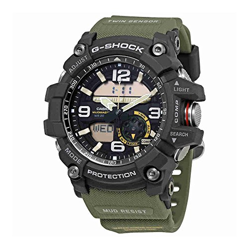Casio Men's GG-1000-1A3CR Mudmaster G-SHOCK Quartz Casual Watch, Green by Casio