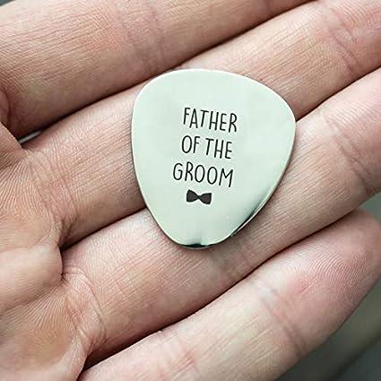 padre de el novio – personalizado regalo de púa de guitarra – de ...