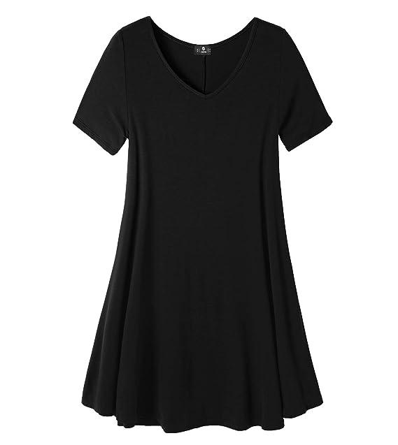 LAPASA Casual - Blusa para Mujer de Manga Corta. (Camiseta con Volantes) (