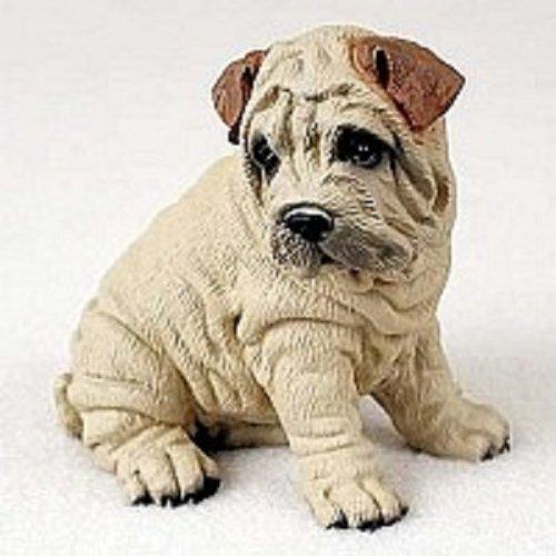 (Shar Pei Dog Figurine - Cream)